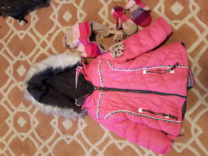 London Fog Girls Winter Jacket, with Gap Mitts and Toque