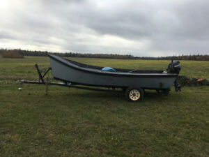 Boat, motor and trailer
