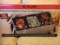 Schiller professional Hotplate and deep pan buffet server