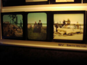 """Antique """"Indians of the Far North"""" Glass Slides"""