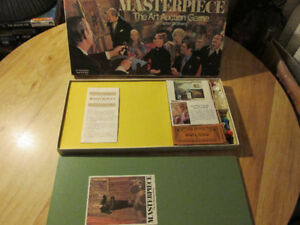 Parker Brothers MASTERPIECE Art Auction Board Game Vintage