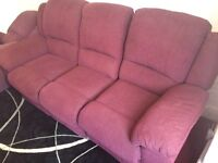 Sofa suite recliner 3 seater and 1 armchair £45