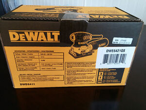 Dewalt 1/4 sheet palm grip sander (DWE6411)