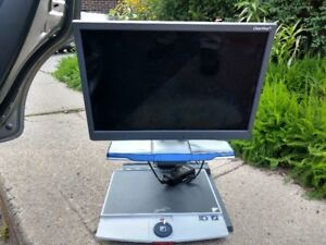 Optelec  ClearView+ 22 inch Monitor & ; Ultra Flexible TFT Arm