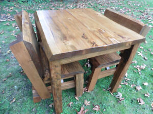 table and bench set (Free Delivery)