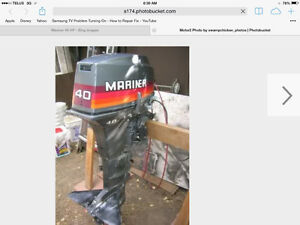 1990's 40 hp Mariner LONGSHAFT motor with CONTOLS