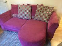 Corner sofa with matching chair