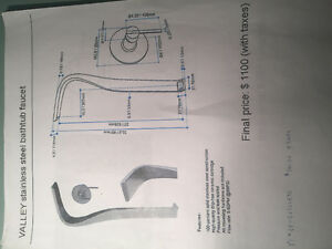 For sale faucet for freestanding tub  brand new in box