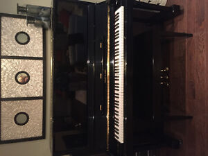 "52"" upright Hobart M. Cable piano"