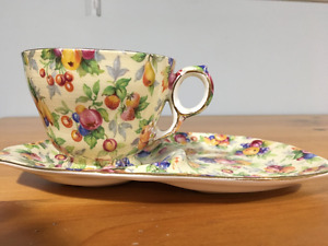Royal Winston grimwades chintz Evesham tennis saucer and cup