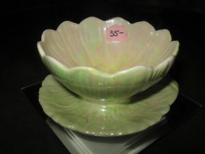 UNUSUAL VINTAGE ROYAL WINTON CHINA LUSTERED RELISH DISH