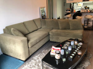 Two piece sectional sofa for sale.  Asking $850 dollars OBO