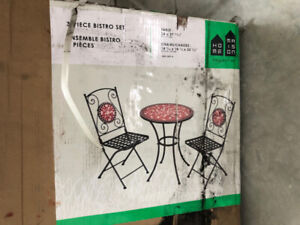 For Living Red Patio Bistro Set, 3-pc