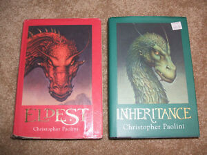 ELDEST and INHERITANCE- hard cover-by Paolini