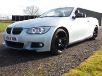 2012 62 BMW 320 2.0TD DIESEL AUTO Sport Plus Edition CONVERTIBLE SPORTS FSH