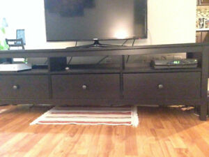 Modern, Well kept, 1 year new television stand for sale