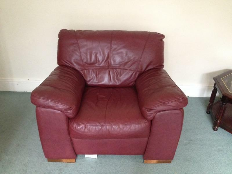Red Leather Sofa For Sale In Newcastle Tyne And Wear Gumtree
