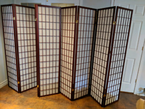 Room Divider, Two (2), Japanese Panels