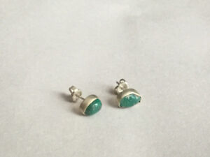 Earrings Jade set in Sterling