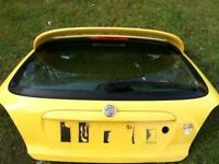 Mg zr yellow bootlid