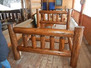 Hand crafted Queen Log bed frame