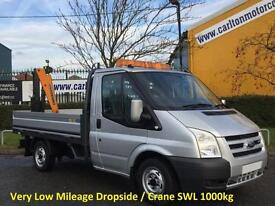 2008 Ford Transit 110 T300s Dropside+Crane Very Low mileage 28k SRW
