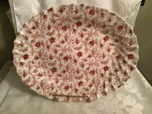 """Spode England Rosebud Chintz Platter 11"""""""