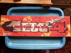 Metal slug original arcade marquee