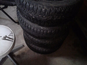 Michelin ice x tires on rims like new
