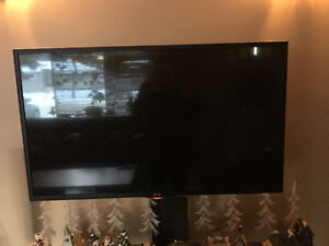 42'' LG Smart TV and solid wood stand