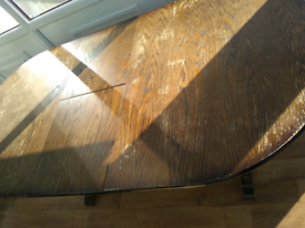 Large solid wood table