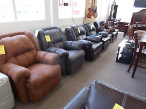 Sale on new recliners, large selection. $599 and up.
