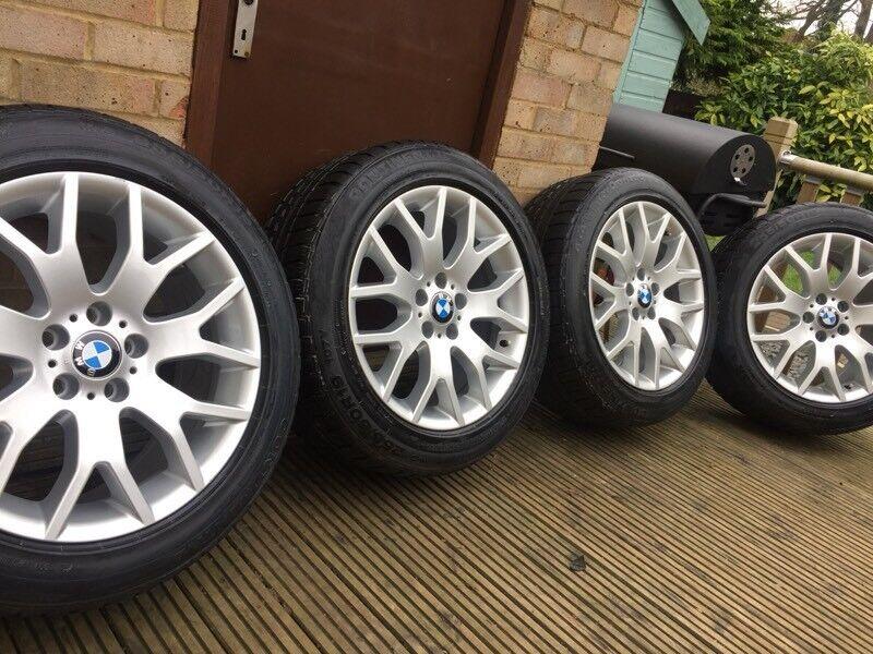 "Genuine BMW X5 E70 19"" Alloy Wheels & 255 50 19 Winter Runflat Tyres M+S E53"