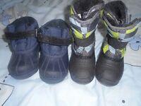 bottes hiver size 8 et 9 pour garcon 2 ou 3ans