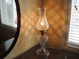 Beautiful Waterford Vintage Crystal Lamps + Bohemia Crystal Vase Windsor Region Ontario image 2