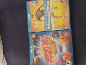 2 barely used Wii games.