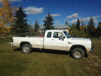 1991 Dodge Ram w250 4x4 extended cab 3/4ton 2450$ obo