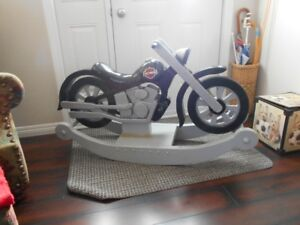 christmas is coming custom hand crafted harley rocker & jacket