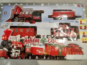 Musical Holiday Express Train Set includes track