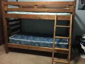 Solid wood twin bunk beds