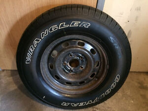 Dodge Ram 1500 Spare Rim with Goodyear Wrangler Tire