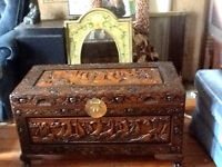 Beautifully Carved Chinese Chest