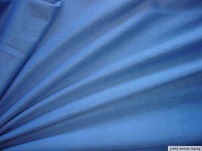 1 Lfm seidiger Jersey 3,55€/m² Trikotstoff Micromodal blau EA5
