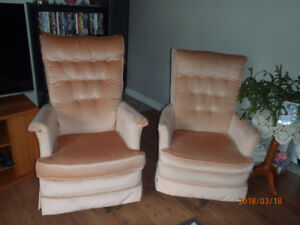 Twin Swivel Rockers (His and Hers)