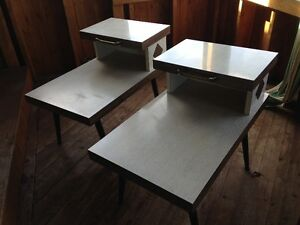 2 Vintage Matching End Tables