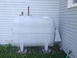 Fibreglass oil tank & oil fired hot water heater
