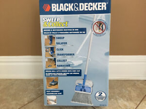 Black & Decker Sweep & Collect Broom & Motorized Dustpan in One