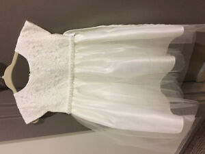 Flower girl dress size 2t/shoes/headband