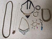 Statement necklaces, bracelets bundle
