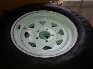 ST 205/75 D15 RIMS AND TIRES